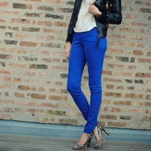 Rag & Bone Royal Blue Capri Skinny Jeans